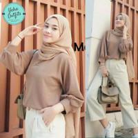 Yumma Blouse Wanita Korea | Baju Atasan Muslim Lengan Panjang Terbaru