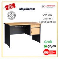 Meja Kantor LMK 1260 / Meja tulis kantor 1/2 Biro lunar