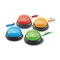 Learning Resources Lights & Sound Answer Buzzers / Bel Alarm Game Kuis - Merah