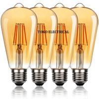 LAMPU FILAMEN LED 4W/ FILAMEN EDISON 4W/ BOHLAM CAFE ST64 4W LED - S14 1W