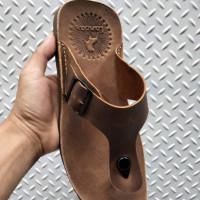 Sandal pria 100 % kulit asli