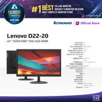 Monitor LED Lenovo D22-20 D2220 22 1080p 75Hz VGA HDMI