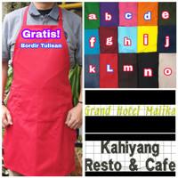 Apron Barista Bordir Apron Chef Bordir Nama Apron Masak Custom