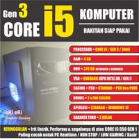PC Komputer Rakitan / Office Admin Kantor UNBK / CORE i5 + RAM 4 GB