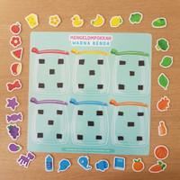Busy Page - Mengelompokkan Benda sesuai Warna (mainan magnet)