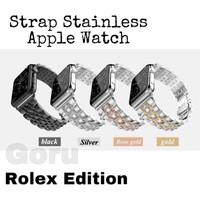 Strap apple watch iwatch 4 3 2 stainless steel Rolex milanese 42 44 mm
