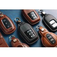 leather key cover sarung kunci keyless Honda Toyota BMW Mercy Mini - Hitam