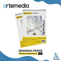 Buku Sketsa Artemedia Drawing Paper Book A4 Wire Bound Sketchbook