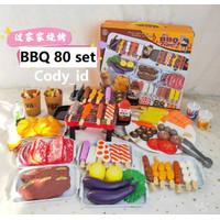 mainan bbq anak | its bbq timeisi 80 pcs | mainan barbeque grill
