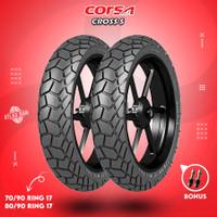 Paket Ban Tubles Motor Bebek CORSA CROSS S 70/90 - 80/90 Ring 17