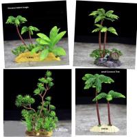miniatur pohon utk bermain sensory, pajangan, diorama, maket, aquascap