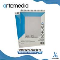 Kertas Cat Air Artemedia Watercolor Book A5 Wire Bound Sketchbook
