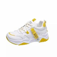 sepatu sneaker wanita wnw07 - putih kuning, 37