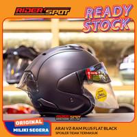 Helm Motor ARAI VZ-Ram Plus Flat Black Half Face Helmet Sun Visor Tour