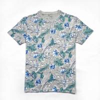 kaos pria AEROPOSTALE tropical floral ORIGINAL -grey