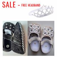 Prewalker Baby Girl Sepatu Bayi Cewek Pesta Party Putih White Black