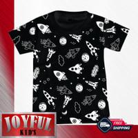Baju Anakm Laki-laki / Kaos Anak Laki-laki ROKET HITAM 1 - 10 Tahun