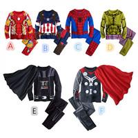 Baju Tidur Anak Impor Spiderman, Ironman, Thor, Hulk, Captain Amerika
