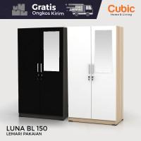 Cubic Lemari Pakaian Minimalis / Almari Baju 2 Pintu / LUNA BL 150