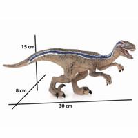 Mainan raptor dinosaurus karet hardrubber jurassic velociraptor