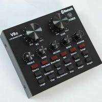 TaffSTUDIO Bluetooth Audio USB External Soundcard Broadcast Mic V8S