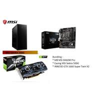 Bundle Inno3d GTX 1660 Super Twin X2 + MSI B460M Pro + MSI SEKIRA 500G