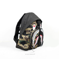 Tas Ransel BAPE Backpack Shark Black Camo