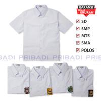 Baju Kemeja SD SMP MTs SMA Polos Putih Lengan Pendek Seragam Sekolah