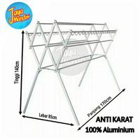 Jemuran Baju Aluminium Anti Karat 9 Palang   CHAMPION