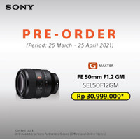 Sony FE 50mm f/1.2 GM Lens Full-Frame
