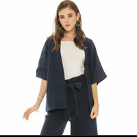 Yuka Blazer In Navy Beatrice Clothing