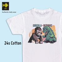 Baju Kaos Anak usia 2-10 tahun Atasan Laki-laki Godzilla - XS
