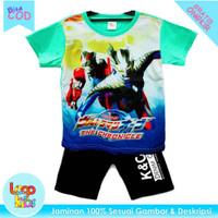 Baju Setelan Anak Laki-Laki Murah Logokids Motif Ultraman 1-10 Tahun