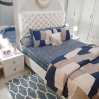 Set Bedcover Sprei Abstrak mocca Ukuran 180x200 160x200