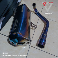 Knalpot Racing Original Pavta V3 Blue Fullsystem Xmax 250 PNP