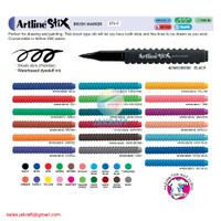 Spidol Kuas Lego ARTLINE Stix Brush Pen Marker ETX-F Bisa Dicuci