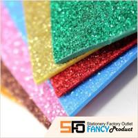 Foam Art Sheet Glitter - Lembar Busa Glitter Polos 20x30