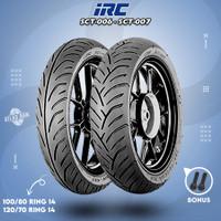 Paket Ban Tubles Motor PCX IRC SCT-006 100/80 - SCT-007 120/70 Ring 14