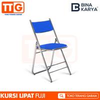 BINA KARYA KURSI / CHAIR / BANGKU LIPAT / FOLDING STAINLESS STEEL FUJI - Biru