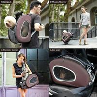ibiyaya backpack pet dog stroller anjing kucing 5in1 multifungsi