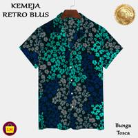 LM 22443 - 22449 Baju Atasan Kemeja Wanita RETRO BLUS Motif Bunga