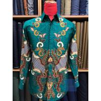 Baju Batik Pria Premium lengan panjang bahan Sutra halus