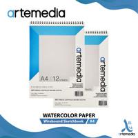 Kertas Cat Air Artemedia Watercolor Book A4 Wire Bound Sketchbook