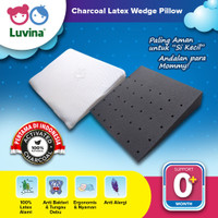 Luvina Charcoal Latex Baby Wedges Pillow / Bantal Santai Baby Latex