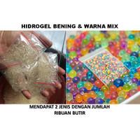Hidrogel Transparan dan warna mix hydrogel murah 1500+ butir