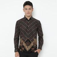 Enzy Batik Shirt Wardhana - Black