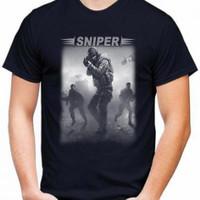 Kaos Pria SNIPER T-shirt Distro Baju Pria/Oblong Pria Keren