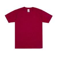 Sipolos Kaos Polos Twotone Lengan Pendek Pria dan Wanita- Red Maroon