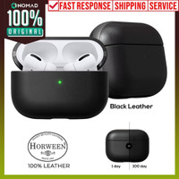 Case Apple Airpods Pro NOMAD Leather Rugged Premium Pouch Casing - Black Leather