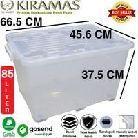 KIRAMAS Container Box Transparan 85 Liter B85 AR (By Gojek / Grab)